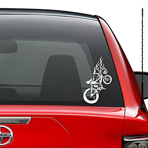 Extreme Sport BMX Bike Vinyl Decal Sticker Car Truck Vehicle Bumper Window Wall Decor Helmet Motorcycle and More - (Size 9 inch / 23 cm Tall) / (Color Matte White) (Bmx Bike 09)