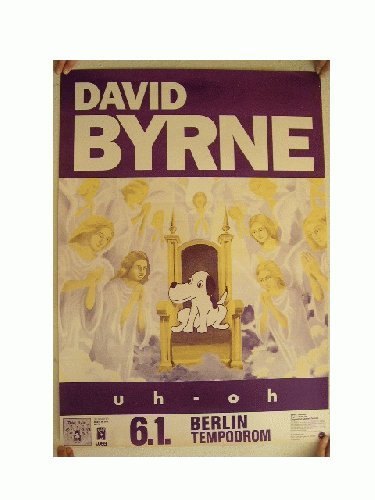 David Byrne Concert Tour Poster The Talking Heads