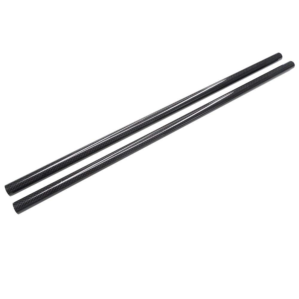 2PCS Roll Wrapped Carbon Fiber Tube 3K Glossy Surface Diameter 16mm 16mmx14mmx500mm