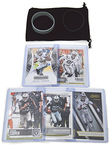 Amari Cooper Football Cards Assorted (5) Bundle - Oakland Raiders Las Vegas Trading Cards