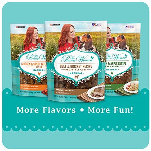 The Pioneer Woman Grain Free, Natural Jerky Dog Treats, Chicken & Apple Recipe Jerky Strips - 16 oz. Pouch, 00038100183279