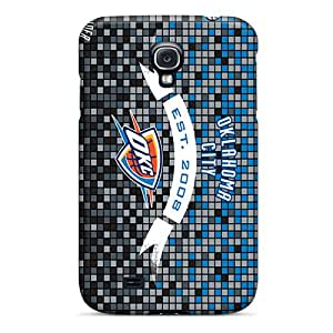 Samsung Galaxy S4 FRt10422eSIq Unique Design Trendy Oklahoma City Thunder Series Perfect Hard Cell-phone Case -KellyLast