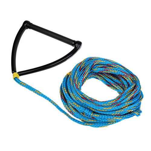MagiDeal Heavy Duty Performance Water Ski Wakeboard Kneebaord 1 Section Rope Cord Line Leash 70ft 3/8