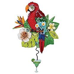 Allen Designs Polly Parrot Pendulum Wall Clock