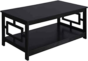 Convenience Concepts Town Square Coffee Table, Black