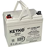 Drive Medical Daytona 3 12V 35Ah SLA / AGM Wheelchair Scooters and Mobility Deep Cycle AGM Rechargeable Replacement Battery Genuine KEYKO (W/ L2 Nut & Bolt Terminal)