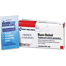 First Aid Burn Relief, 3.5gm, 6/PK, Sold as 1 Package