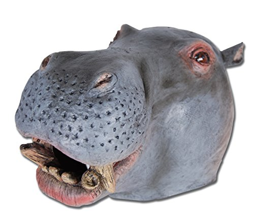Bristol Novelty BM304 Hippo Overhead Mask, One -