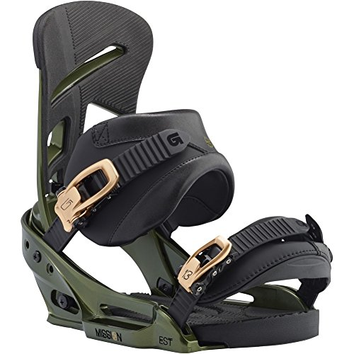 BURTON NUTRITION Burton Mission EST Snowboard Binding 2016 - Men's Track Day Green Large Balance Snowboard Bindings