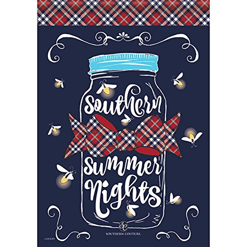 """Carson Home Accents Outdoor House Flag, Southern Summer Nights, Large 28""""x40"""""""
