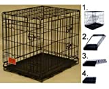 Majestic Pet 36″ Double Door Folding Dog Crate Cage, Medium For Sale