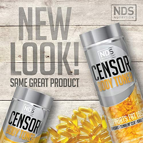 NDS Nutrition Censor - Fat Loss And Body Toner With CLA, Fish Oil, Safflower And Omega 3-6-9 Blend - Dietary Supplement For Improved Energy, Metabolism And Health - 180 Softgels 2