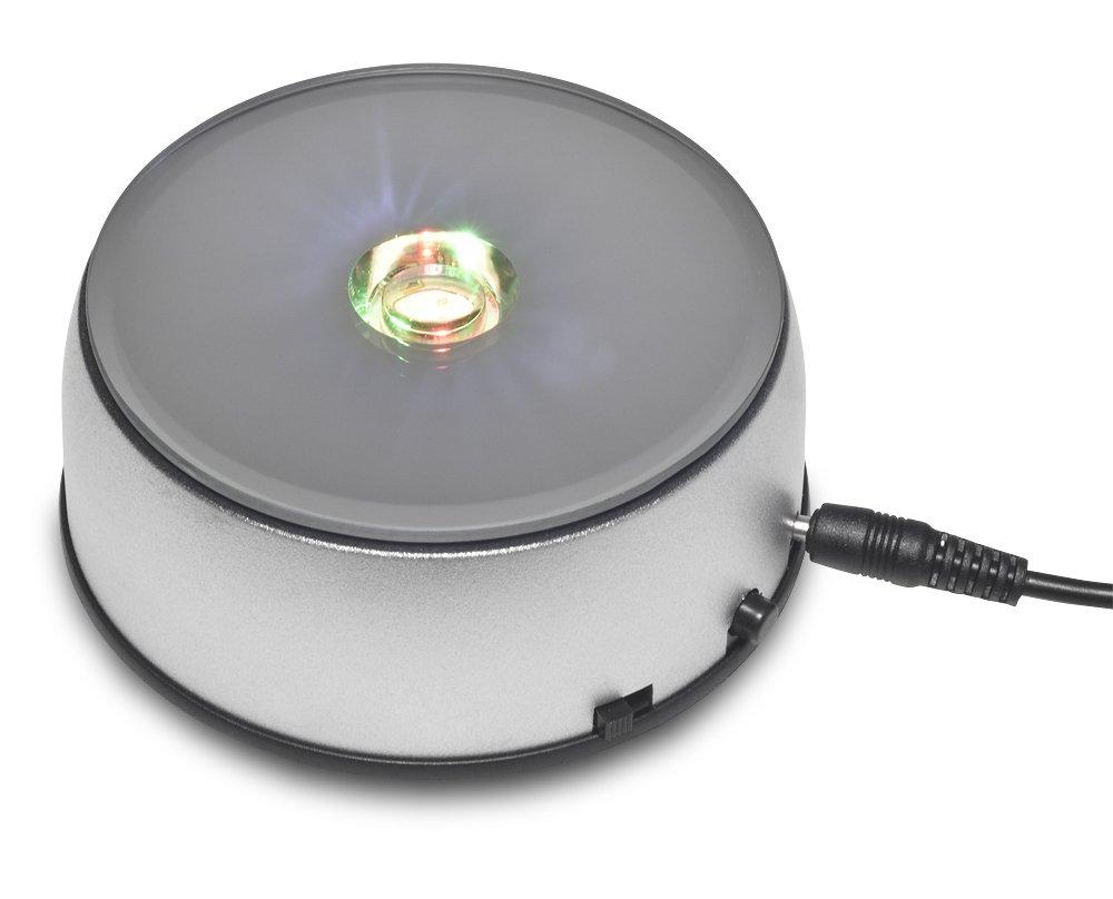 Santa Cruz Lights Rotating Programable Stand Base for Crystals Glass Art