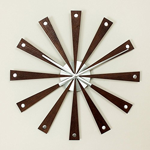 Retro Mod Metal Wall Clock (George Nelson Romer 19.25 in. Wall Clock)