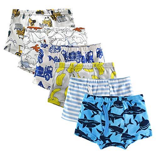 slaixiu Soft Cotton Kids Underwear Cartoon Boys Boxer Briefs 6-Pack (UW75-No.2-150)