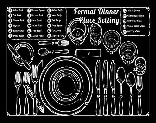 Formal Dinner Place Setting Art Print - 11x14 Unframed Photo Wall Art- Great Gift Present for anyone who loves to cook. Perfect for the Kitchen - Poster Decor Under $20 (The Best Place To Print Photos)