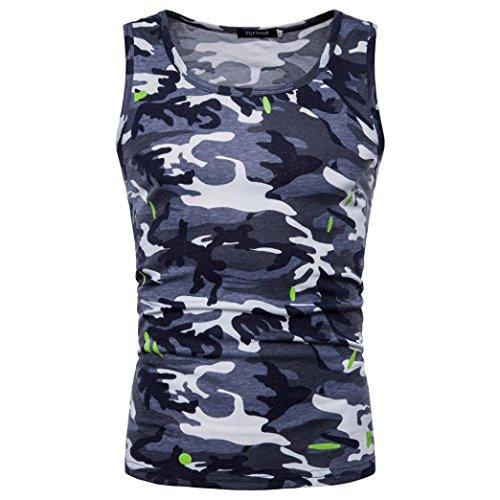 Goodtrade8 Plus Size Men Boy Vest Tank Tops Sleeveless Blouse Sport Summer Casual Tee T-Shirt (M, Gray) by Goodtrade8