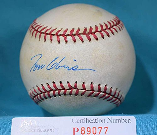(Signed Tom Glavine Ball - COA 1996 NLCS - JSA Certified - Autographed Baseballs)