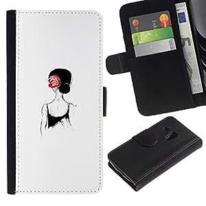 All Phone Most Case / Oferta Especial Cáscara Funda de cuero Monedero Cubierta de proteccion Caso / Wallet Case for Samsung Galaxy S3 MINI 8190 // Girl From Behind