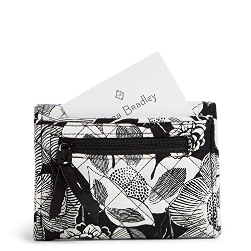 Vera Bradley Women's Signature Cotton Riley Compact Wallet with RFID Protection
