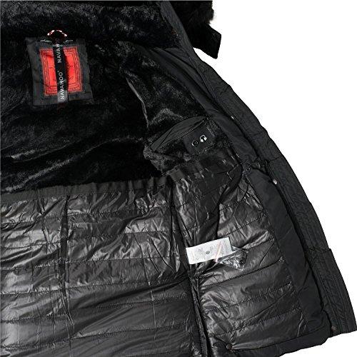 ... Navahoo Damen Jacke Wintermantel Winterparka Sesa (vegan hergestellt) 4  Farben XS-XXL Schwarz ... 01cb9ab683