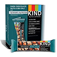 KIND Bars, Dark Chocolate Nuts & Sea Salt, Gluten Free, Low Sugar, 1.4 Ounce Bars, 12 Count (Packaging May Vary)