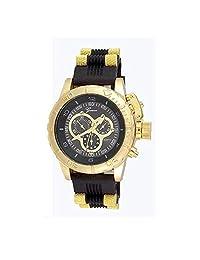 Gold Black Mens Watch Geneva Metal Oversized Boyfriend Designer Fashion