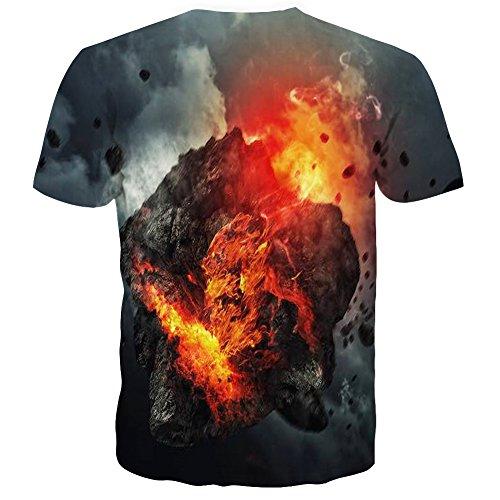 Manches shirts 3d Laidipas Grey À Pattern Imprimé Courtes Unisexe T qX88AwT