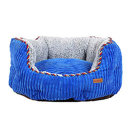 bluee 115cmZXPzZ Kennel Sofa Dog Bed Removable And Washable Small Medium Large Dog Cat Bed Pet Supplies Four Seasons Universal Pet Nest Comfortable Soft Round Pad (color   Brown, Size   60cm)