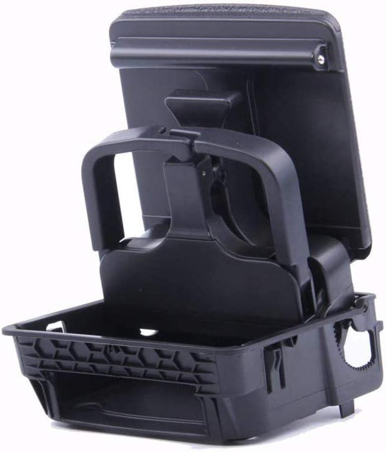 Amzparts Black Rear Seat Armrest Beverage Cup Holder Fit for VW Jetta MK5 Golf 5 MK6 1K0 862 532 F/D/G 9B9