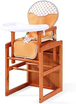 ZXQZ Silla alta for bebés, silla de comedor de madera maciza for ...