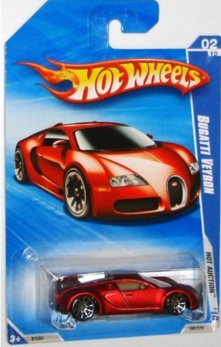 Hot Wheels 2010-160 RED Bugatti Veyron Hot Auction 1:64 S...
