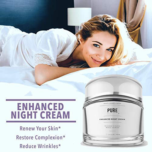 51VKMv7KFYL - Pure Biology Premium Night Cream Face Moisturizer with Retinol, Hyaluronic Acid & Anti Aging, Wrinkle Firming Complexes - Collagen Boosting Skin Care for Men & Women, 1.6 oz