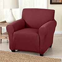Dawson Collection Twill Slipcover (Chair, Wine)