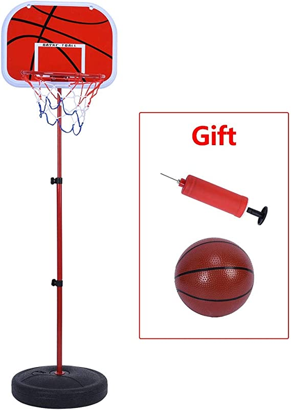Kids Basketball Stand Height Adjustable Basketball Hoop Backboard Children Indoor Outdoor Sport Basketball Game with Ball and Pump