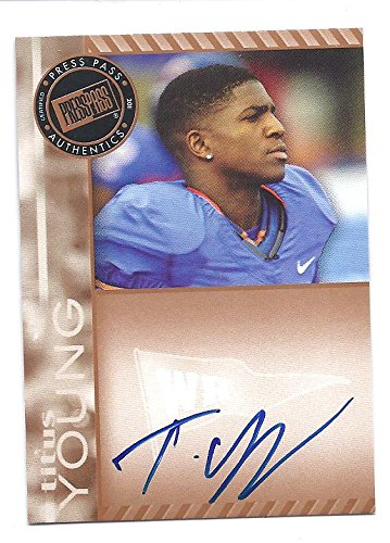 2011 Press Pass Signature Football - TITUS YOUNG 2011 Press Pass Signatures Bronze AUTOGRAPH Rookie Card RC #PPSTY Boise State Broncos Detroit Lions Football