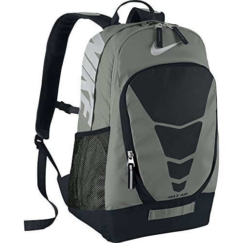 Price comparison product image Nike Max Air Vapor Backpack Tumbled Grey / Black / Metallic Silver Size Large