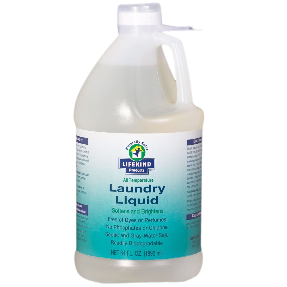Lifekind Organic All Temperature Natural Laundry Liquid 64 Fl. Oz. (64 Loads) Gentle, Free of Dyes and Perfumes