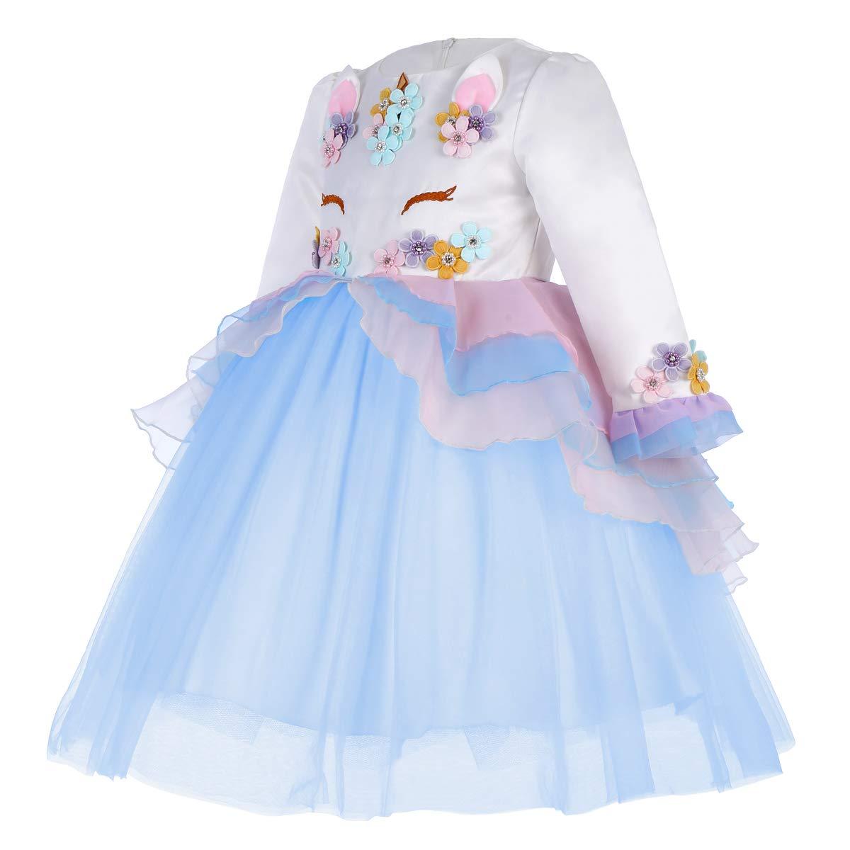 2af95c303 Disfraces IWEMEK Princesa Bebé Niña Vestido Unicornio Cumpleaños Disfraz de Cosplay  para Fiesta Carnaval Navidad Bautizo Comunión ...