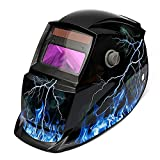 LEXPON Automatik Schweißhelm Solar Welding Helmet Schweißmaske Schweißschirm Schweißschild (Lightning mit Skull)