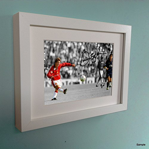 Kitbags & Lockers Signed White David Beckham Halfway Goal Manchester United Autographed Photo Photograph Picture Frame