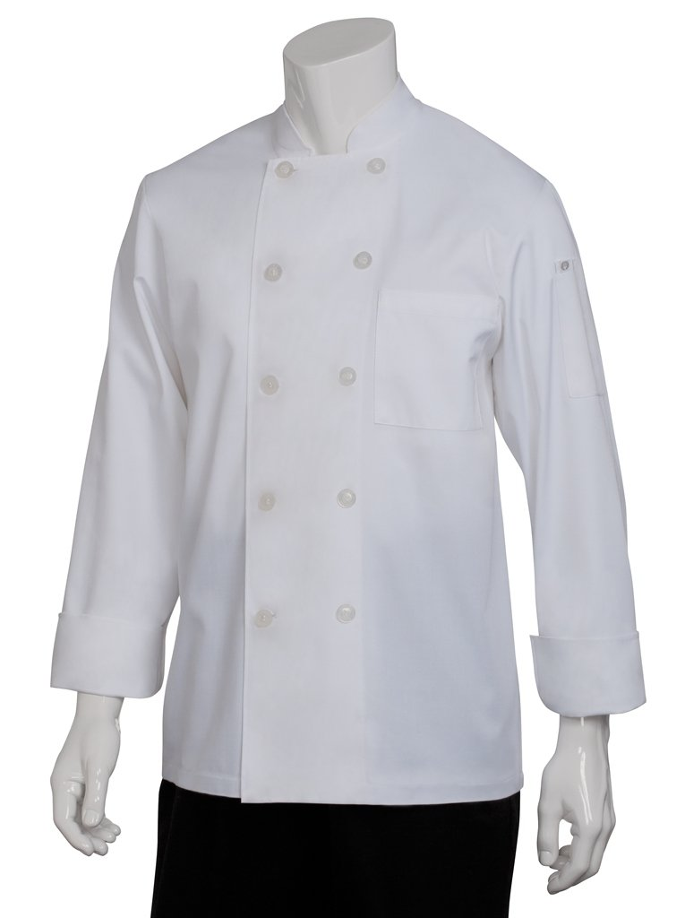 Chef Works Men's Le Mans Chef Coat, White, Medium by Chef Works