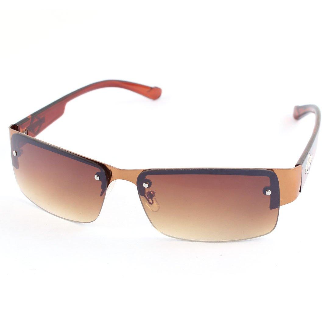 Kunststoff halb Rand Sonnenbrillen Augenschutz Brillen Braun für die ...