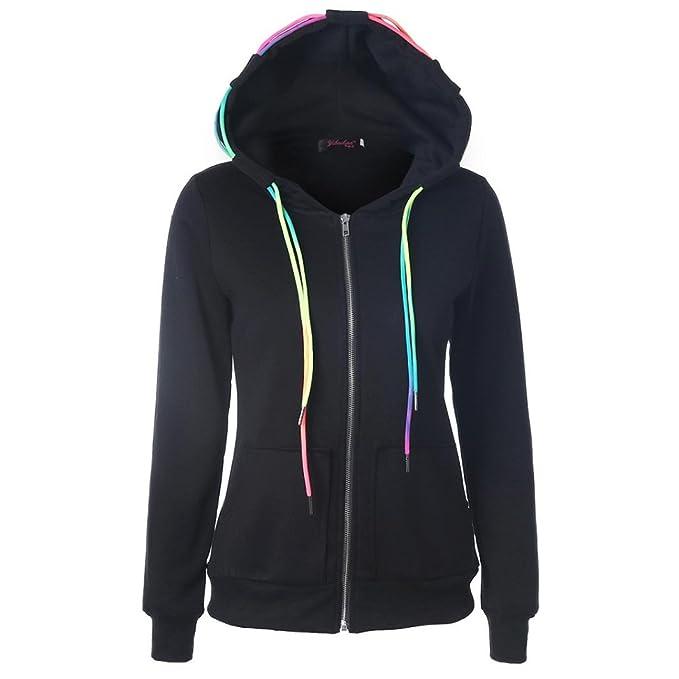 Amazon.com: De la Mujer Sudaderas con capucha, jushye Ladies ...