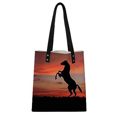 83a2a504ac Amazon.com  FORUDESIGNS Women Leather Handbag Horse Large Shopping Shoulder  Bag For Girls Casual Travel Bag With Purse Totes Bolsa Feminina Color  XQ0226Z7  ...