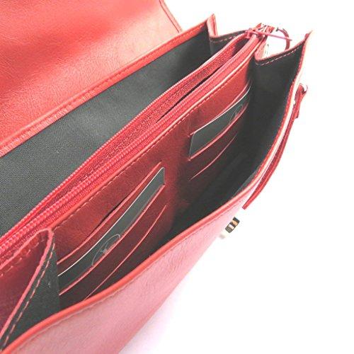 Cuero Bolsa 2 Pliegues De 'frandi'rojo Czzg5p