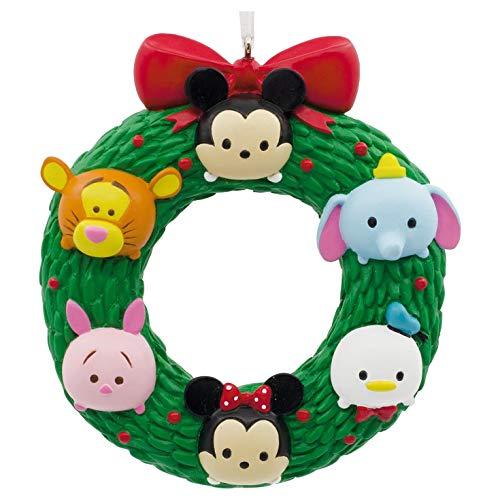 Wreath Christmas Tree Ornament - Hallmark Christmas Ornament Disney Tsum Wreath, Mickey Minnie Winnie The Pooh Tigger