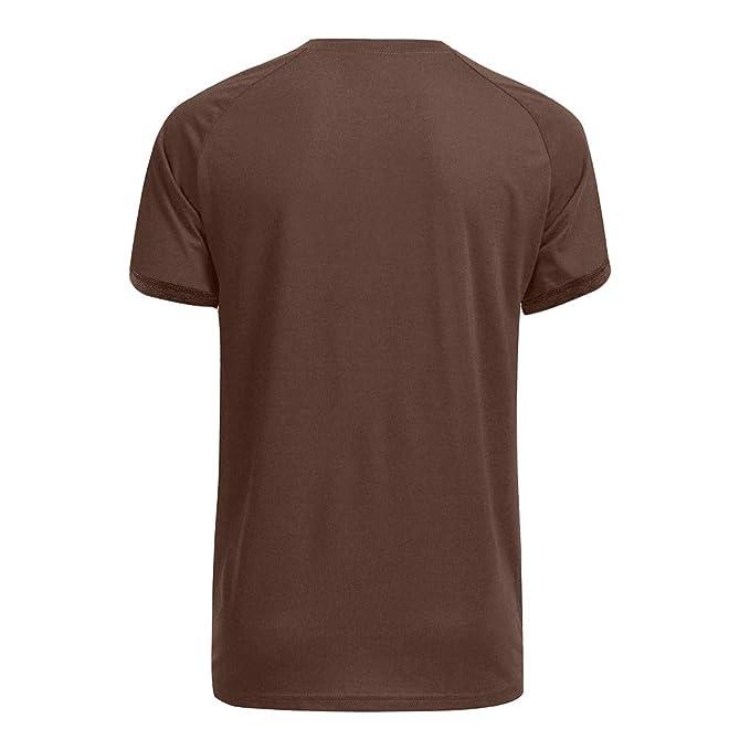 Amazon.com: Mens T-Shirt Casual O-Neck Short Sleeve Tops ...