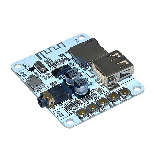 DC 5V Bluetooth Audio Receiver Board Mini USB Bluetooth V2.1 3.5MM Jack Amplifier Music Module Support TF Card