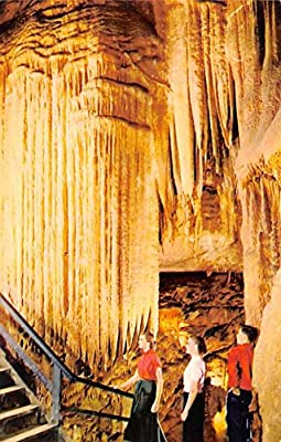 Caves Post Card Falls Frozen Niagara, Mammoth Cave Kentucky, USA Unused